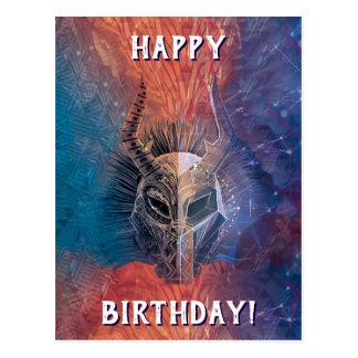 Black Panther | Tribal Mask Overlaid Art Postcard