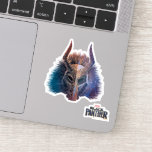 Black Panther | Tribal Mask Overlaid Art Sticker