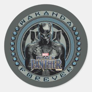 Black Panther | Wakanda Forever Badge Classic Round Sticker