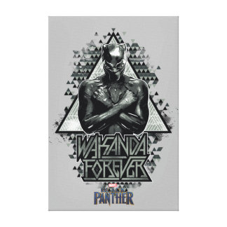 "Black Panther | ""Wakanda Forever"" Graphic Canvas Print"