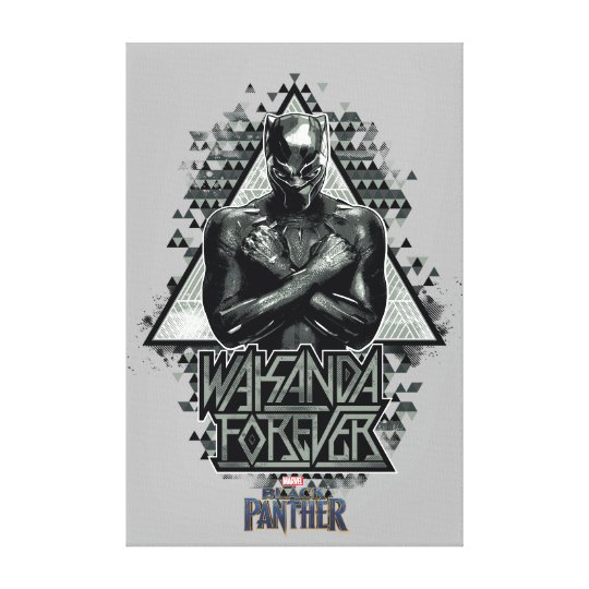 Black panther wakanda forever graphic canvas print