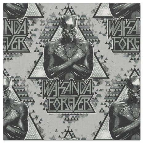 "Black Panther | ""Wakanda Forever"" Graphic Fabric"