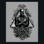 "Black Panther | &quot;Wakanda Forever&quot; Graphic Poster<br><div class=""desc"">Check out Black Panther with his arms crossed in this triangular graphic that reads &quot;Wakanda Forever&quot;.</div>"
