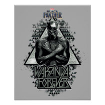 "Black Panther | ""Wakanda Forever"" Graphic Poster"