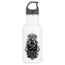 "Black Panther | ""Wakanda Forever"" Graphic Stainless Steel Water Bottle"