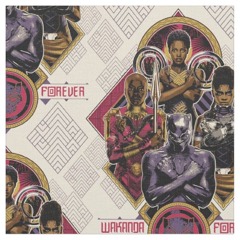 Black Panther | Wakanda Forever Salute Fabric