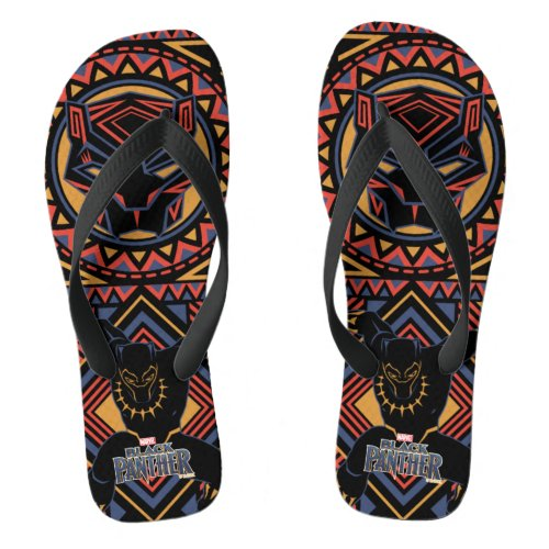Black Panther  Wakandan Black Panther Panel Flip Flops