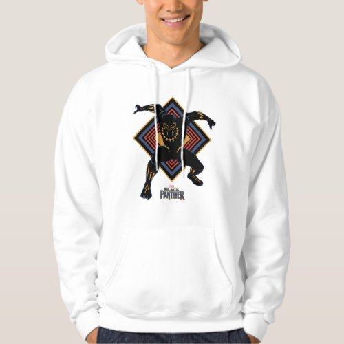 Black Panther  Wakandan Black Panther Panel Hoodie