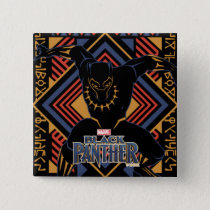 Black Panther | Wakandan Black Panther Panel Pinback Button