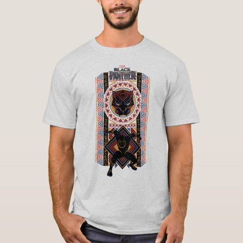 Black Panther  Wakandan Black Panther Panel T_Shirt
