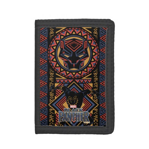 Black Panther  Wakandan Black Panther Panel Tri_fold Wallet