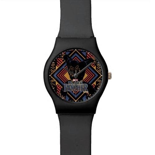 Black Panther  Wakandan Black Panther Panel Wrist Watch