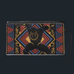 "Black Panther | Wakandan Black Panther Panel Wristlet<br><div class=""desc"">This is a graphic panel that features the Black Panther and panther head icon within a Wakandan tribal themed border.</div>"