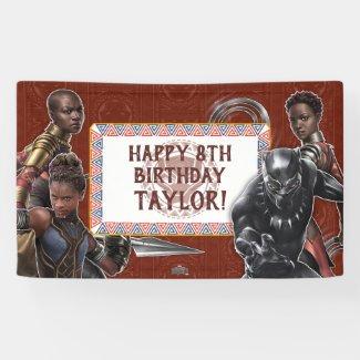 Black Panther | Wakandan Warriors Birthday Banner