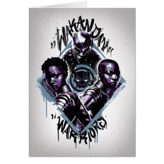 Black Panther | Wakandan Warriors Graffiti Card