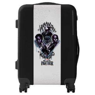 Black Panther | Wakandan Warriors Graffiti Luggage