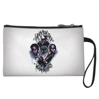 Black Panther   Wakandan Warriors Graffiti Wristlet Wallet