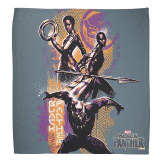 Black Panther | Wakandan Warriors Painted Graphic Bandana