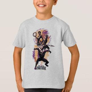 Black Panther | Wakandan Warriors Painted Graphic T-Shirt