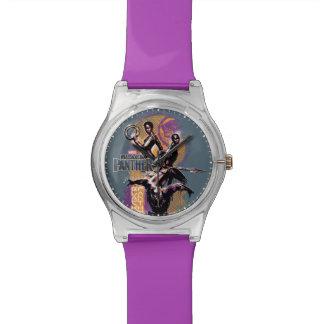 Black Panther | Wakandan Warriors Painted Graphic Watch