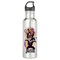 Black Panther | Wakandan Warriors Painted Graphic Water Bottle