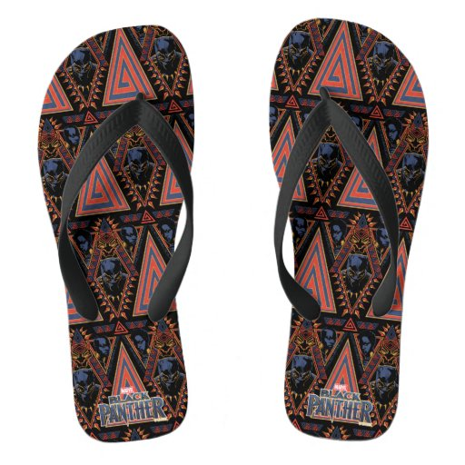 Black Panther | Wakandan Warriors Tribal Panel Flip Flops
