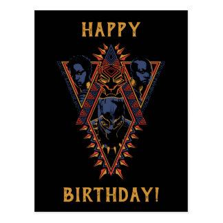 Black Panther | Wakandan Warriors Tribal Panel Postcard