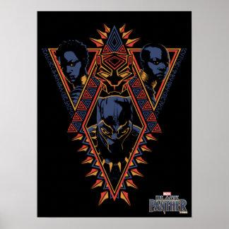 Black Panther | Wakandan Warriors Tribal Panel Poster