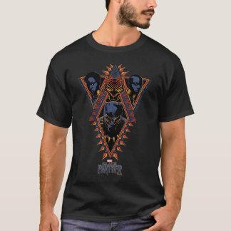 Black Panther | Wakandan Warriors Tribal Panel T-Shirt