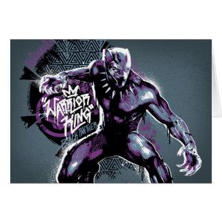 Black Panther | Warrior King Painted Graphic Card