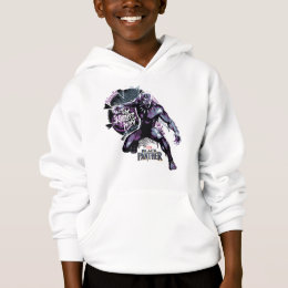 Black Panther | Warrior King Painted Graphic Hoodie