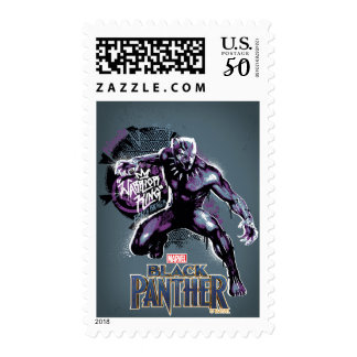 Black Panther | Warrior King Painted Graphic Postage