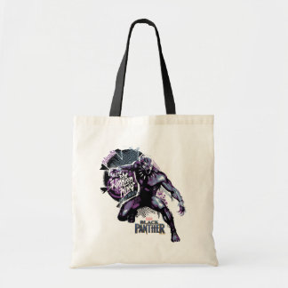 Black Panther | Warrior King Painted Graphic Tote Bag