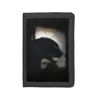 Black Panther Wild Cat Artwork Tri-fold Wallets