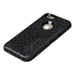 Black Panther with Name OtterBox Defender iPhone Case