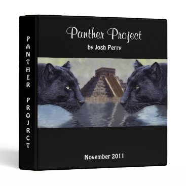 "Aztec Themed ""Black Panthers at Chichen Itza"" Project Binder"