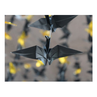 Black Paper Cranes Postcards
