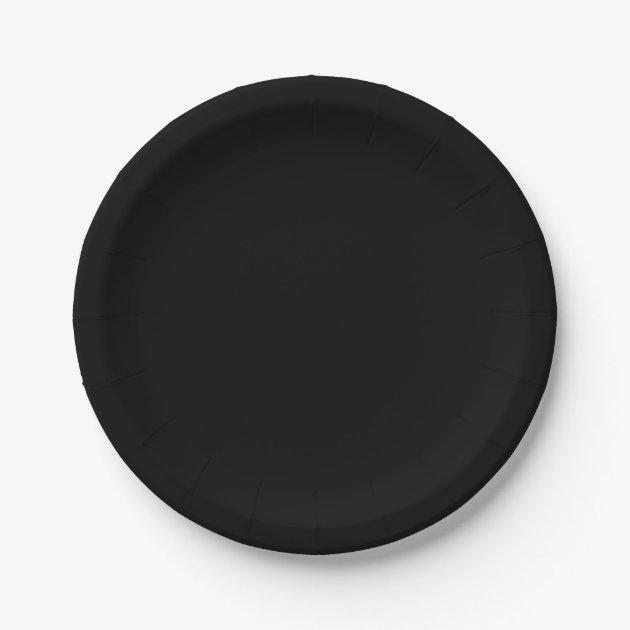 sc 1 st  Zazzle & Black Paper Plates   Zazzle.com
