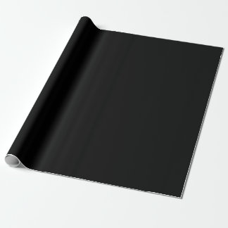 Black Paper Wrapping Paper