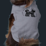"""Black Papercut Dog Year 2018 shirt for pets<br><div class=""""desc"""">Dog Design stylised and inspired by traditional Chinese papercut in black with customizable black lettering around the design on gray pets clothing. Same design for both humans and pets. Perfect for Chinese New Year of the Dog 2018. ----- &quot;The Dog (狗) is one of the 12-year cycle of animals which...</div>"""