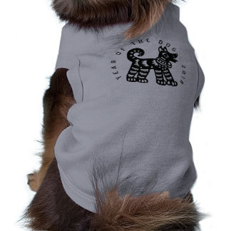 Black Papercut Dog Year 2018 shirt for pets