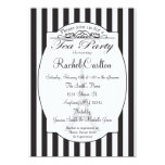 Black Paris Bridal Tea Party Invitation