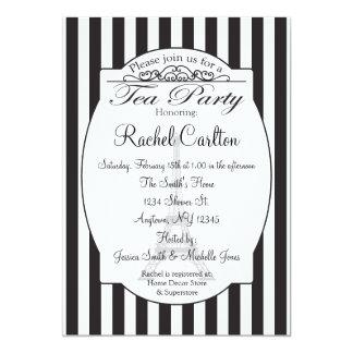 "Black Paris Bridal Tea Party Invitation 5"" X 7"" Invitation Card"