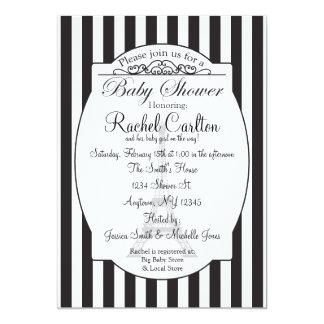 Black Paris Theme Baby Shower Invitation