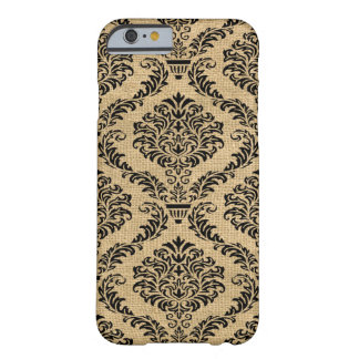 Black Parisian Moods Damask Barely There iPhone 6 Case