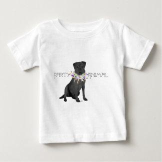 Black Party Animal Labrador Retriever Baby T-Shirt