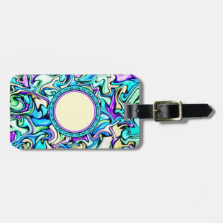 Black & Pastel Abstract Stained Glass Pattern Bag Tag