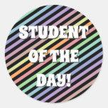 [ Thumbnail: Black & Pastel Colored Lines Pattern Sticker ]