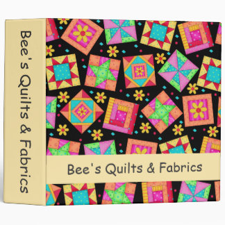 Black Patchwork Quilt Art Business Album Binder