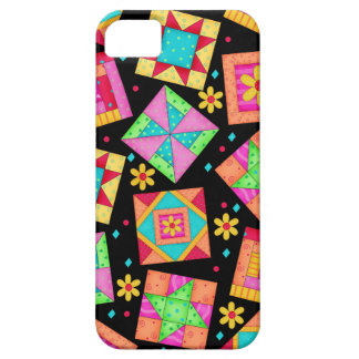 Black Patchwork Quilt Art iPhone 5 Case